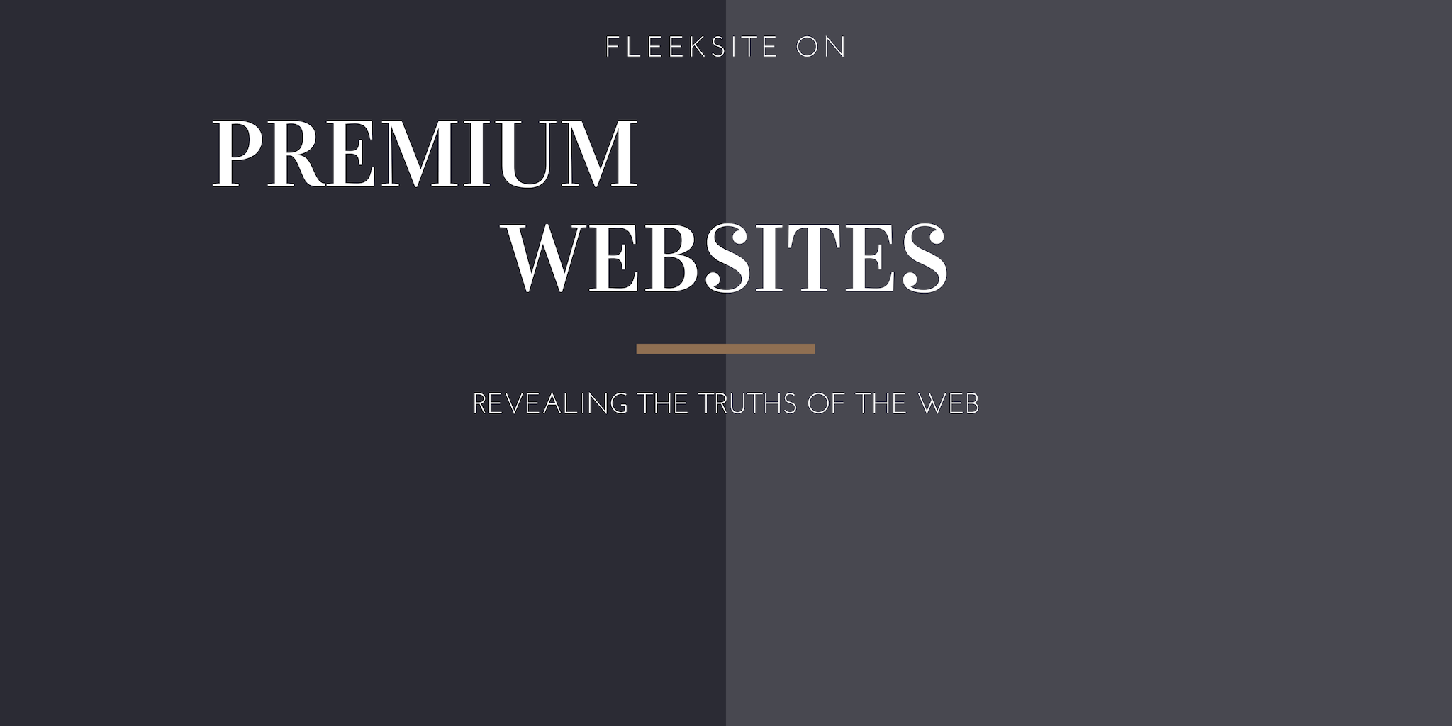 Tailoring Your Premium Website - Part 1